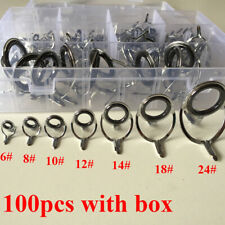 Sale Rod Repair Kit 100Pcs Mixed Size Fishing Rod Guides Line Rings For Building