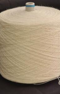 1 Spule 2,5 kg Wolle GP 11,90 Euro/kg wollweiß Nm 4,2 Dochtgarn Handstricken