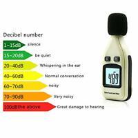 LCD Digital Sound Pressure Level Meter Decibel 30-130dB Noise Measurement Tester