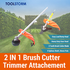 String Trimmer Brush Cutter Attachment Fit Yukon 9 Spline Chainsaw Hedge Trimmer