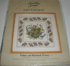 Needlepoint Kit VIOLETS AND BLUEBIRDS by Something Special/ Candamar
