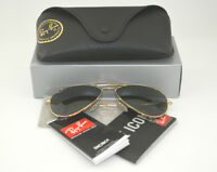 Ray Ban RB3025 Sonnenbrillen Aviator Classic Gold Frame/Polarized Green