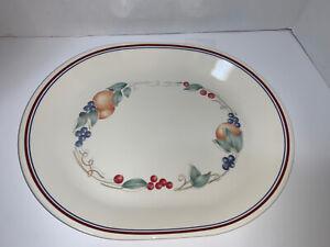 """Vintage Corelle Abundance Fruit Oval Serving Platter 12"""""""