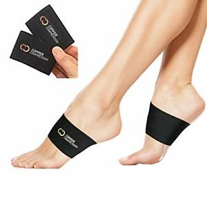 Copper Arch Support - 2 Plantar Fasciitis Braces/Sleeves. Guaranteed Highest