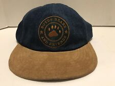 Boyd's Bears And Friends Ball Cap Hat Button Ears Stretch Denim