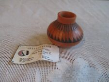 Small Vintage Mata Ortiz Pottery Pot Signed by Artist Delia Vizca?