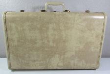 "Vintage Samsonite Shwayder White Beige Marble Wardrobe Suitcase 21"" Hardcase"