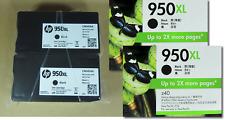 [1145*] 2x Genuine HP 950XL (CN045AA) BLACK INKS - NO BOX ( RRP>$130 )