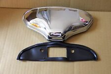 CLASSIC FIAT 500 600 NUMBER PLATE PLINTH PLATE LIGHT LIGHTING CHROMED ALUMINIUM