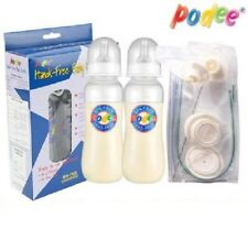 250ml Twin Pack Podee Hands Free Baby Bottle 3 Stage Change BPA Free_EA