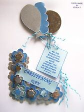 3D CHRISTENING DAY DESIGN CARD CRAFT TOPPER, EMBELLISHMENT  CHDAY - BOY