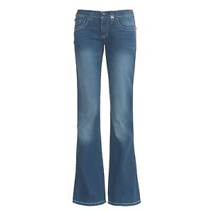 CRUEL GIRL MARLA EMBROIDERED COWGIRL JEANS US1