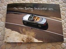 BENTLEY OFFICIAL CONTINENTAL GTC PRESS MEDIA SALES BROCHURE AND CD 2012 USA Ed