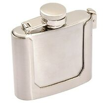 Stainless Steel 3 oz Liquor Flask w/ Belt Buckle Flask Holder, Free Shipping
