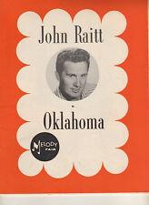 """John Raitt """"Oklahoma"""" Souvenir Program 1964 Stock Melody Fair"""