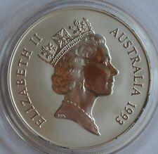 1993 Australia Canguro ELISABETTA II UN DOLLARO 1 oz Fine Silver Moneta Capsule