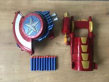 Captain America Nerf Blaster Shield 2015 Marvel The Avengers IRON MAN Blaster