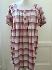 Abito a quadri in cotone ZARA cotton check dress M