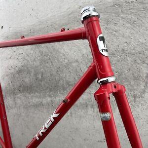 Trek Vintage Frame Set 330 Lugged Steel Red 700c Vintage 126 mm 56 cm