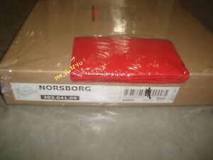 IKEA Cover for Norsborg  3-Seat Sofa Section Finnsta Red Slipcover Only !