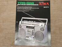 AIWA TPR-968 Portable Cassette Tape Recorder Original Catalogue