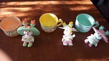 Kidsview Tea Bunnies Lot Of 3 - Uneeda - Great Condition!