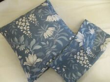 2 Scatter Cushion Covers  Laura Ashley Parterre Seaspray blue Floral NEW 16 inch
