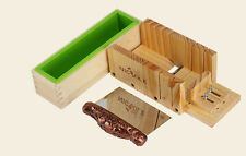 Loaf Soap Mould Set Wooden Box DIY Soap Cutter Tools With Stainless Steel Blade