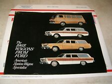 '65 Station 'Wagons from Ford' Brochure, Original, 15 pages, Falcon Ranch Club !