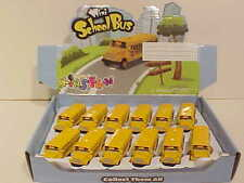12 Pack of School Bus Long Nose Diecast Car 1:72 scale Kinsfun 2.5 inch Yellow