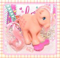 ❤️My Little Pony MLP G1 Vtg ITALY Italian PEACHY Euro Variant NIRVANA Hearts❤️