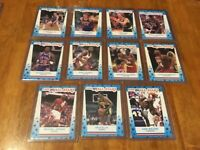 1989-90 Fleer Basketball Sticker Set 1-11 Michael Jordan