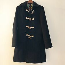 J Crew Wool Italian Coat Toggle Black Womens Coat Size 8 Style 88691