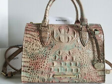 Brahmin Anywhere Convertible Sandstone Melbourne Leather Tote Satchel Bag NWT