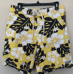 Vintage Billabong Board Shorts Swim Trunks Hawaiian Floral Made in USA Size 33