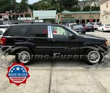 Fits Jeep Grand Cherokee Limited 05-10 Chrome B-Pillar Post Mirror Door Covers