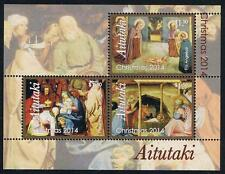 Aitutaki 2014 Christmas Stamp Issue Souvenir Sheet