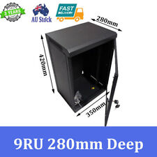 "9U 9RU 10"" 10 Inch 280mm Deep Wall Mount Rack Cabinet Networking"