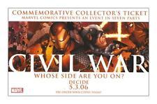 CIVIL WAR: COMMEMORATIVE COLLECTORS PROMO TICKET with McNIVEN ART*