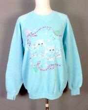 vintage 80s 90s retro AMAZING Pastels Cat Sweatshirt Cats Kittens Kitties XL