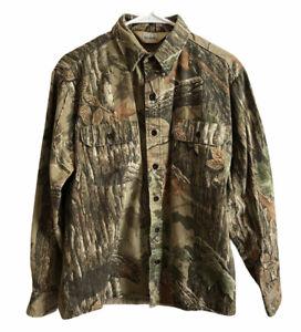 Redhead Realtree Camo Long Sleeve 100% Cotton Shirt Green Hunting Size Small