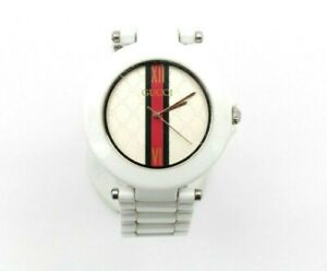 GUCCI 828 STAINLESS STEEL KW SUPER HIGH-TECH CERAMIC MENS WRIST WATCH #WB10-10