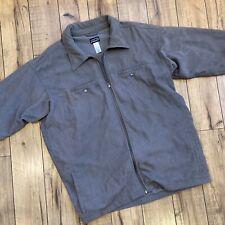 Patagonia Gray Corduroy Fleece Lined Full Zip Jacket Men's SZ XXL