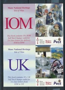 [16151] Isle of Man 2004 : Good Set 2 Very Fine Adhesive Complete Booklets