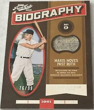 Roger Maris /99 2016 Panini Prime Cuts Game Used Patch Jersey Biography Yankees