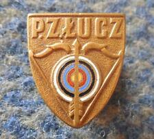 POLAND FEDERATION ARCHERY 1950's RARE ENAMEL PIN BADGE