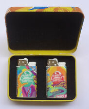 CAMEL Cigarettes 2017 Promotional Gift 2 Lighters in Tin Box UNUSED