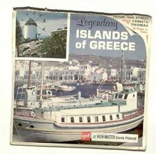 vintage GAF view master LEGENDARY ISLANDS OF GREECE reel set CRETE rhodes DELOS!