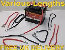 Positive Earth Battery Cable Starter Solenoid Car Boat Van Marine Black & Red