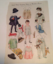 And This Young Man Is Brother Peter Paper Doll - 1920's Magazine Original